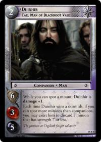 lotr tcg expanded middle earth duinhir tall man of blackroot vale