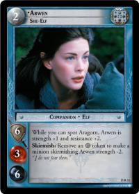 lotr tcg the hunters arwen she elf