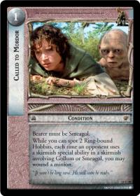 lotr tcg the hunters c uc called to mordor