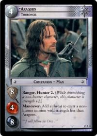 lotr tcg the hunters aragorn thorongil