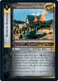 lotr tcg the hunters destroyed homestead