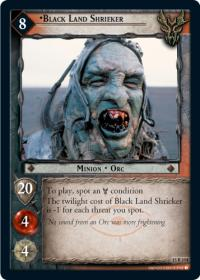 lotr tcg the hunters black land shrieker