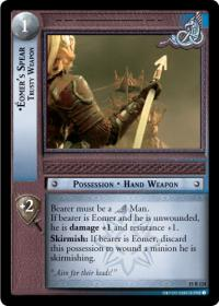 lotr tcg the hunters eomer s spear trusty weapon