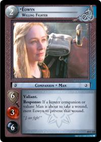 lotr tcg the hunters c uc eowyn willing fighter