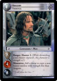 lotr tcg the hunters aragorn thorongil foil