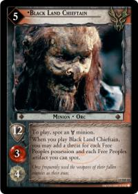lotr tcg the hunters black land chieftain foil