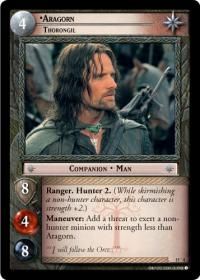 lotr tcg the hunters aragorn thorongil masterworks foil