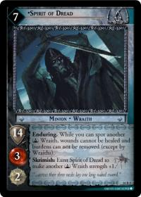 lotr tcg wraith collection spirit of dread