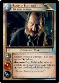 lotr tcg rise of saruman c uc barliman butterbur red faced landlord