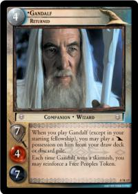 lotr tcg rise of saruman gandalf returned