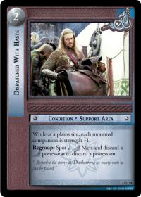 lotr tcg rise of saruman c uc dispatched with haste