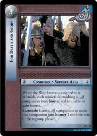 lotr tcg rise of saruman c uc for death and glory