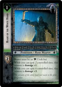 lotr tcg rise of saruman c uc blade of the white hand