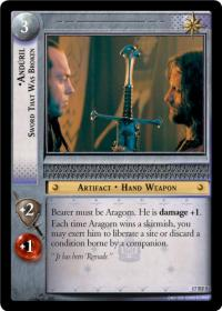 lotr tcg rise of saruman anduril sword that was broken foil