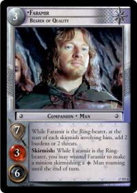 lotr tcg rise of saruman faramir bearer of quality foil