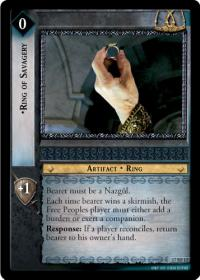 lotr tcg rise of saruman ring of savagery foil