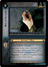 lotr tcg rise of saruman ring of savagery masterworks foil