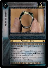 lotr tcg rise of saruman ring of terror masterworks foil
