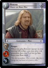 lotr tcg treachery and deceit boromir proud and noble man