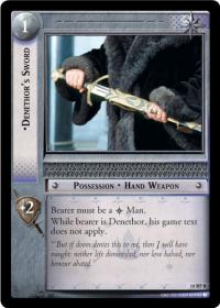 lotr tcg treachery and deceit denethor s sword foil