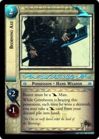 lotr tcg treachery and deceit beorning axe masterworks foil