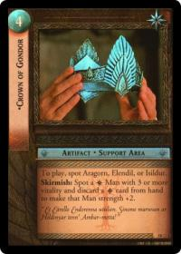 lotr tcg treachery and deceit crown of gondor masterworks foil