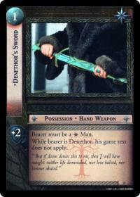 lotr tcg treachery and deceit denethor s sword masterworks foil