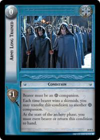 lotr tcg ages end army long trained