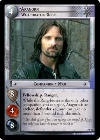lotr tcg ages end aragorn well traveled guide