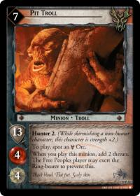 lotr tcg ages end pit troll