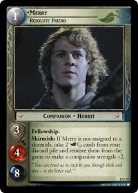 lotr tcg ages end merry resolute friend