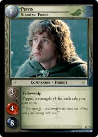 lotr tcg ages end pippin steadfast friend