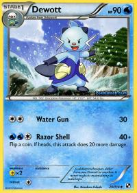 pokemon black and white base set dewott 29 114