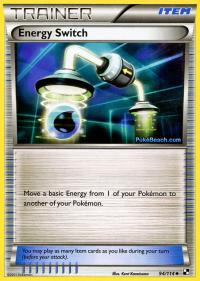 pokemon black and white base set energy switch 94 114