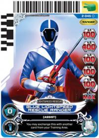 power rangers guardians of justice blue lightspeed rescue ranger 045