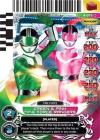 power rangers legends unite green and pink time force rangers 075