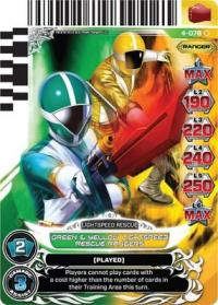 power rangers legends unite green and yellow lightspeed rescue rangers 078