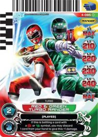 power rangers legends unite red and green turbo ranger 095