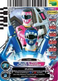 power rangers legends unite blue and pink turbo ranger 096