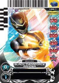power rangers rise of heroes black megaforce ranger 006