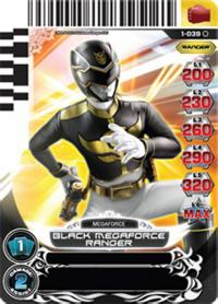 power rangers rise of heroes black megaforce ranger 039
