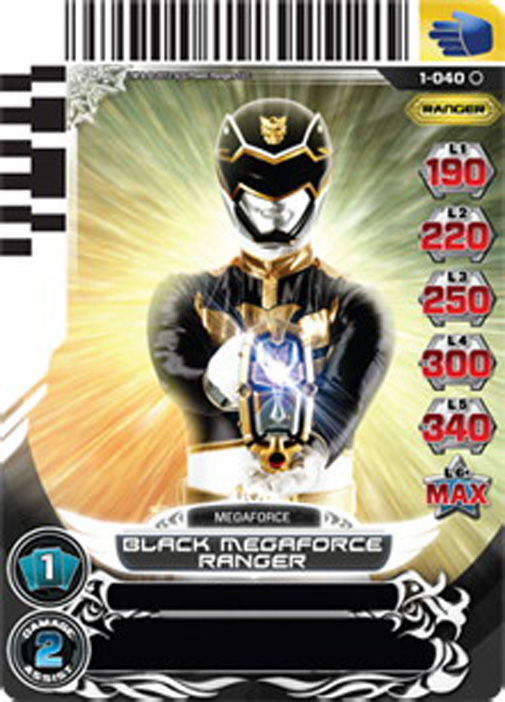 Black Megaforce Ranger 040