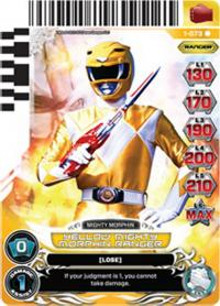 power rangers rise of heroes yellow mighty morphin ranger 073