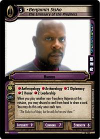 star trek 2e reflections 2 0 benjamin sisko the emissary foil