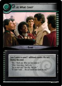 star trek 2e reflections 2 0 at what cost foil