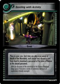 star trek 2e reflections 2 0 bustling with activity foil