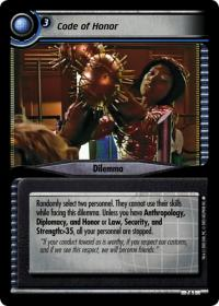 star trek 2e strange new worlds code of honor foil