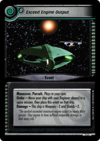 star trek 2e strange new worlds exceed engine output foil