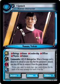 star trek 2e genesis collection spock trainee instructor