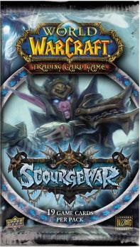 warcraft tcg warcraft sealed product scourgewar booster pack